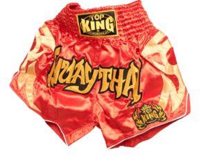 Top King Шорты для тайского бокса Красный
