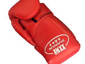 Shuangguan Перчатки для бокса Красный