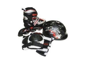 ATEMI AJIS-09 Набор роликов с защитой и шлемом Черный