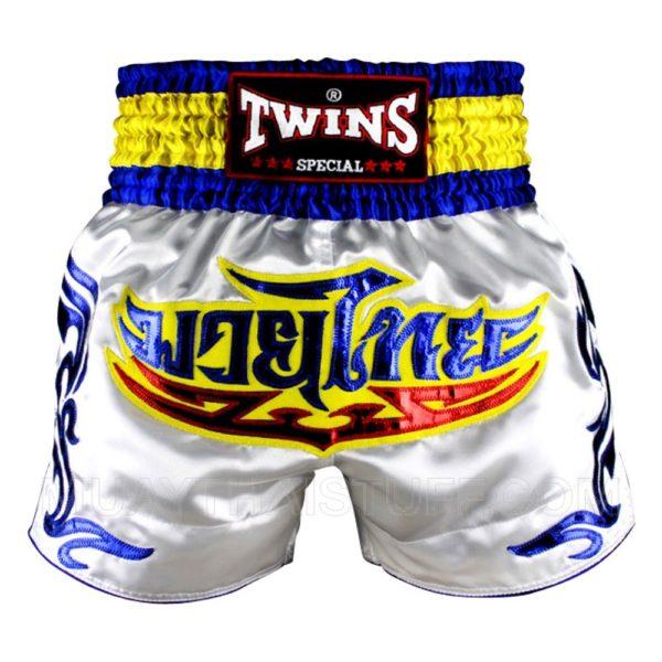 TWINS Special Шорты для тайского бокса Белый