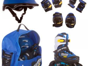 Alpha Caprice PW117 Blue race Набор роликов с защитой и шлемом