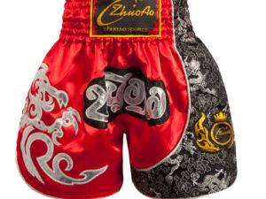 КНР Шорты для тайского бокса Красный
