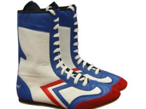 Рэй-Спорт Боксерки высокие белые/синие/красные