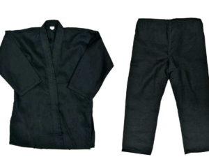 Кимоно черное без пояса