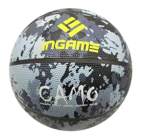 Мяч баскетбольный INGAME Camo черный р.7