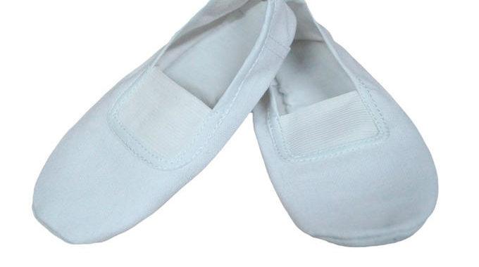 Чешки тканевые Белые